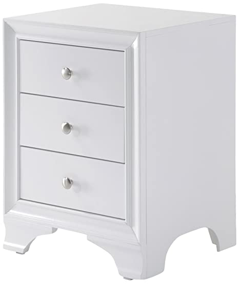 Amazon.com: Acme muebles 97500 Blaise mesita de noche con 3 ...