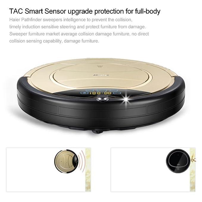 Haier T321 Aspiradora robot Smart Auto Vacuum microfibra de limpieza de polvo limpiador suelos Robot especialmente Silencioso schonend de muebles blandos ...