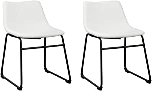 Signature Design by Ashley - Centiar Mid-Century Dining Room Chair - Set of 2 - White