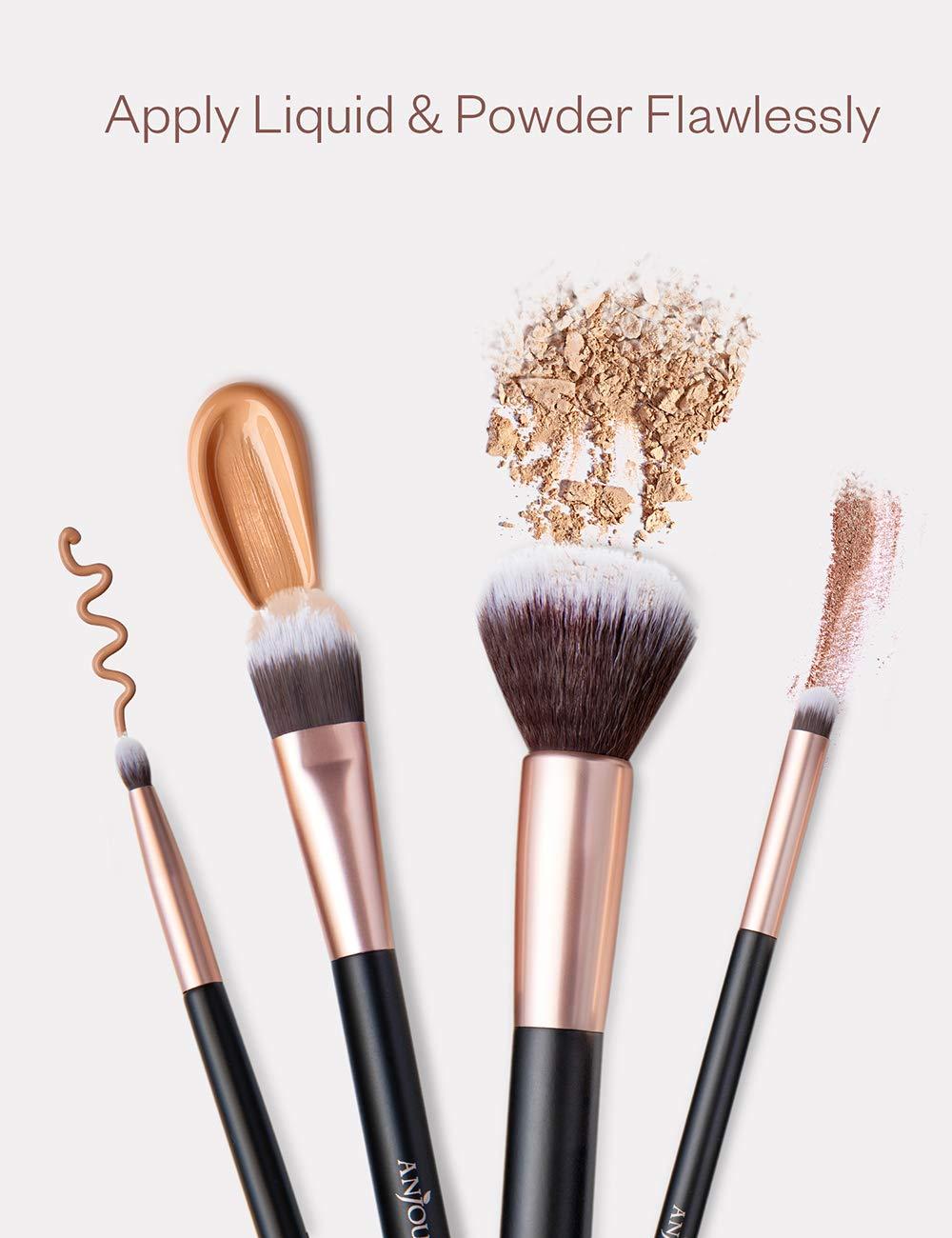 Anjou Makeup Brush Set 24pcs Premium Cosmetic Brushes for Foundation Blending Blush Concealer Eye