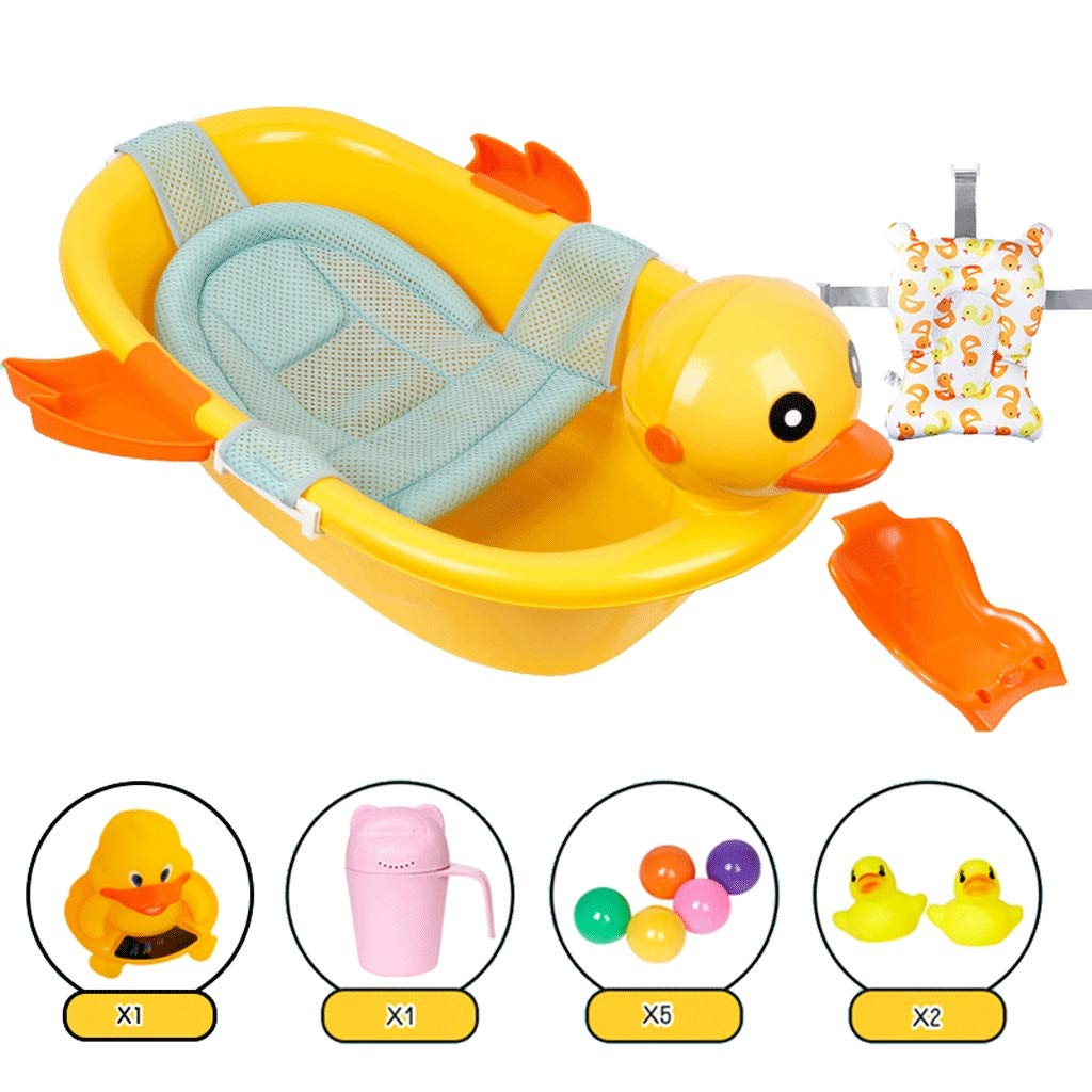 VAIY Baby Bath Seat, with Water Temperature Meter, 7 Options, Protect The Spine of Newborns (Color : G)