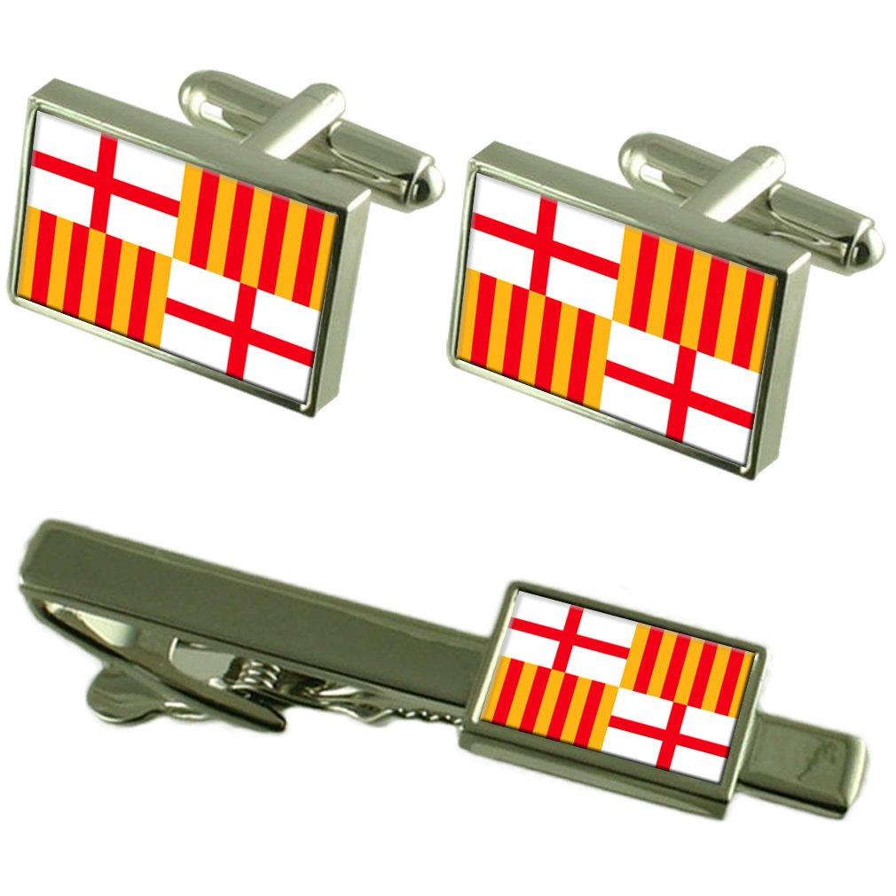 Select Gifts Barcelona Ciudad Bandera España Clip de Corbata ...