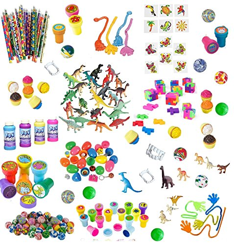 168 Pc Party Favor Toys For Kids - Bulk Party Favors For Boys And Girls - Awesome Toys For Goody Bags, Pinata Fillers or Prizes For Birthday Party ()