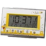 リズム時計 Disney ( ディズニー ) くまのプーさん 電波 目覚まし キャラクター 時計 8RZ133MC08