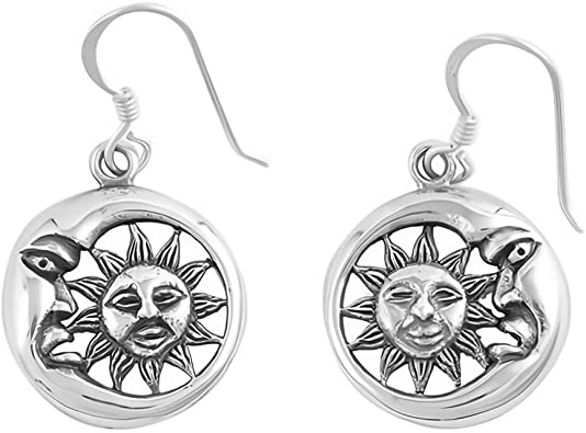 Jewelry Gift Glitzs Jewels 925 Sterling Silver Earrings with Stone Black
