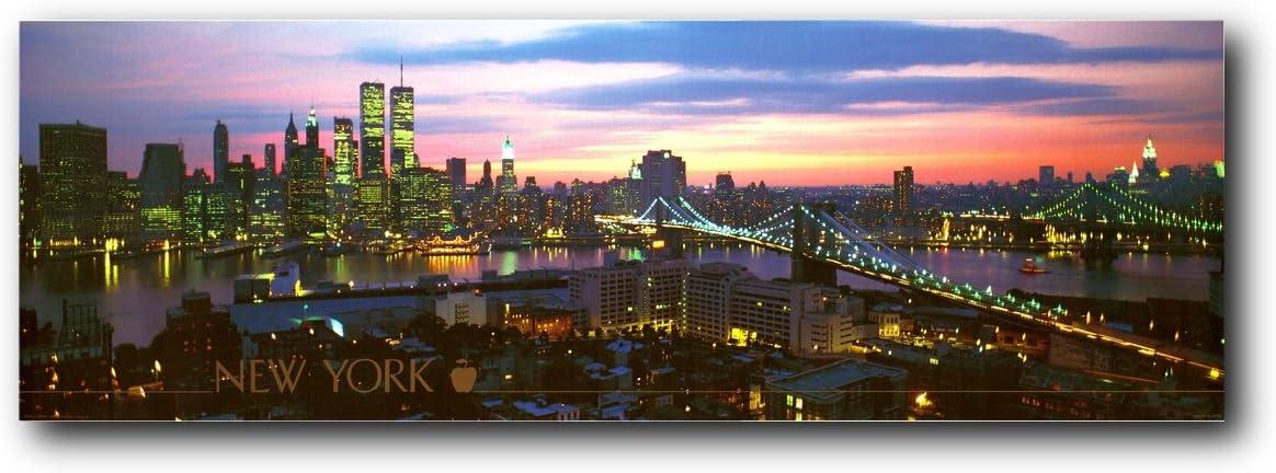 NYC Brooklyn Bridge Manhattan New York City Skyline Wall Decor Art Print Poster (12x36)