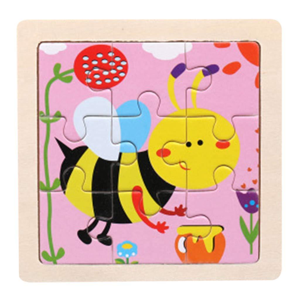Liqiqi Puzzle Jouet d/éveil /éducatif pour Enfants en d/éveloppement en boisJouet dentrainement Enfant