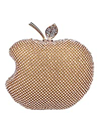 Fawziya Apple Purse With Rhinestone For Women Party Evening Bags And Clutches