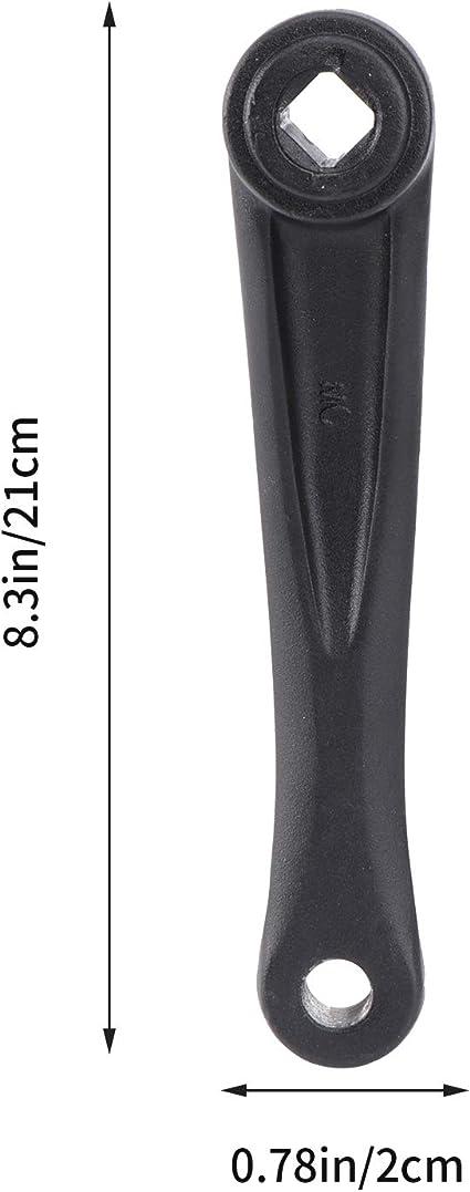 Samfox V/élo Manivelle 170mm en Alliage Daluminium V/élo Gauche Cha/îne Unique Manivelle Remplacement du Bras pour La Plupart des V/élos