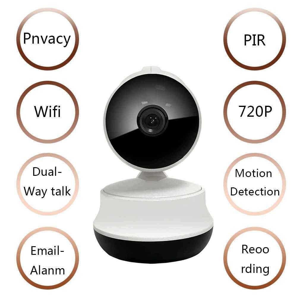 Wasserdicht IP Überwachungskamera,Webcams Mikrofone Überwachungskameras,WiFi IP Sicherheits kamera,720P Wlan IP Überwachungskamera,Alarm Informationen für MacBook und Windows PC,iOS/Android -weiß,Auto-Alarmanlagen ip-kamera