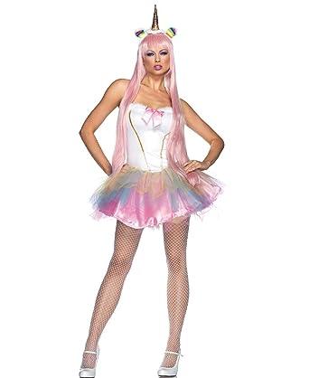 Amazon Com Fantasy Unicorn Adult Costume Medium Large Clothing