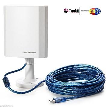 Tuakii Antena WiFi de Exterior de Largo Alcance USB 150 Mbps con Adaptador Inalámbrico LEGUANG N120: Amazon.es: Electrónica