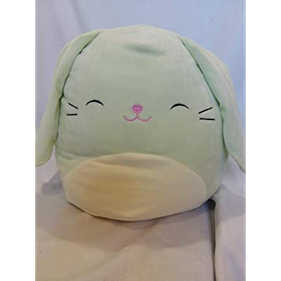 "Squishmallow Easter Squad Edition 16"" Mint Bunny Rabbit Isabella: Toys & Games"