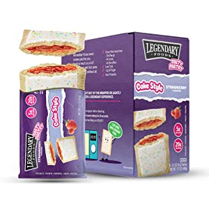 Legendary Foods New Cake Style Tasty Pastry | Low Carb | High Protein | Keto Friendly | No Sugar Added | Protein Snacks | On-The-Go Breakfast | Keto Food - Strawberry (8pk)