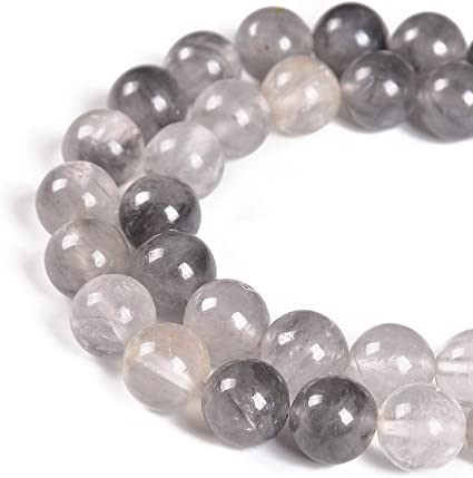 Nancybeads Natural Gemstone Round Spacer Loose Beads 1 Strand 15.5 for Jewelry Making Aquamarine Tigers Eye, 8mm 45Beads