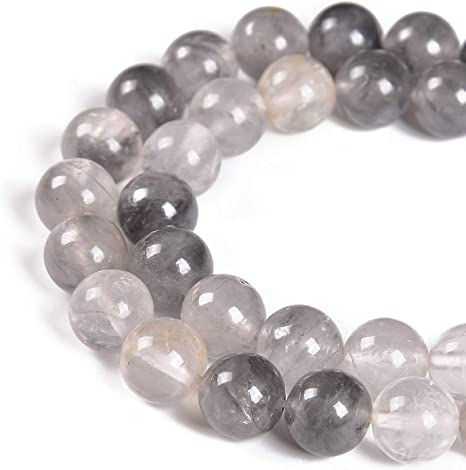 Nancybeads Natural Gemstone Round Spacer Loose Beads 1 Strand 15.5 Black Obsidian, 6mm 60Beads