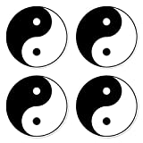 dealzEpic - Round Yin Yang Tai Qi/Tai Ji Sign
