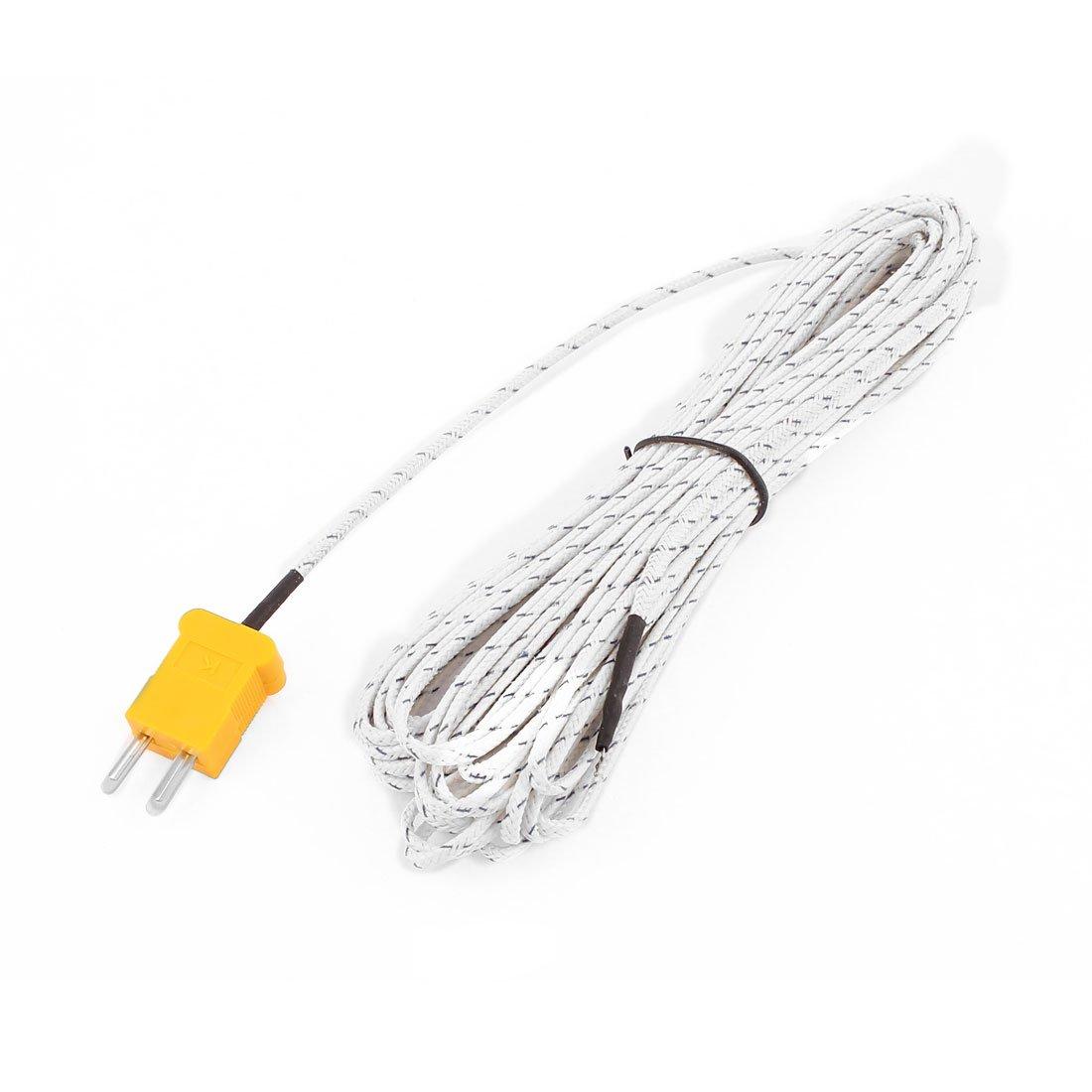 sourcing map K Type Mesure température Sonde thermocouple Câble Capteur -50 à +204C 10M a16042900ux0594