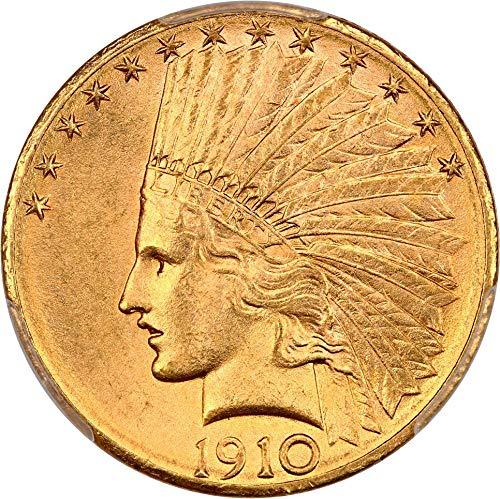 1910 D $10 Indian Gold Ten Dollar MS65 PCGS