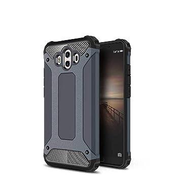 Xinglong Funda Huawei Mate 10,Robusta Carcasa Híbrida TPU+PC 360°Armadura Protectora Funda Pesada A Prueba de Choques de Doble Capa Caso,La Marina