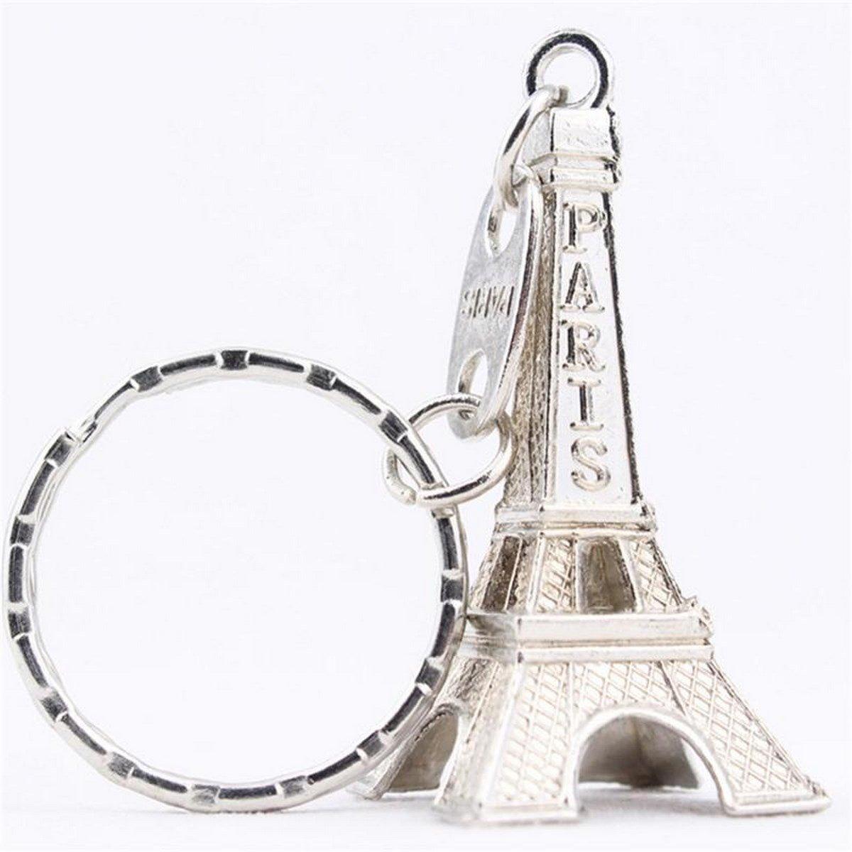 Amazon.com : Silver Fashion Romantic 3D Paris Eiffel Tower ...