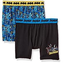 DC Comics boys Big Boys Dc Comics Mixed Athletic Boxer Briefs 2 Pack