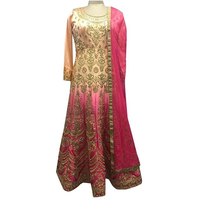 Amazon.com: Anarkali - Vestido pesado personalizado, traje ...