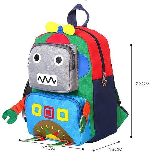 Mochila Para Niños Robot 3D De Dibujos Animados Mochila De Guardería Para Niños De 3-6 Años Bolsa Para Bebé: Amazon.es: Bricolaje y herramientas
