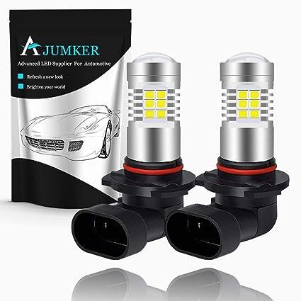 AJUMKER 9005 HB3 Bombilla LED, blanco de xenón, extremadamente ...