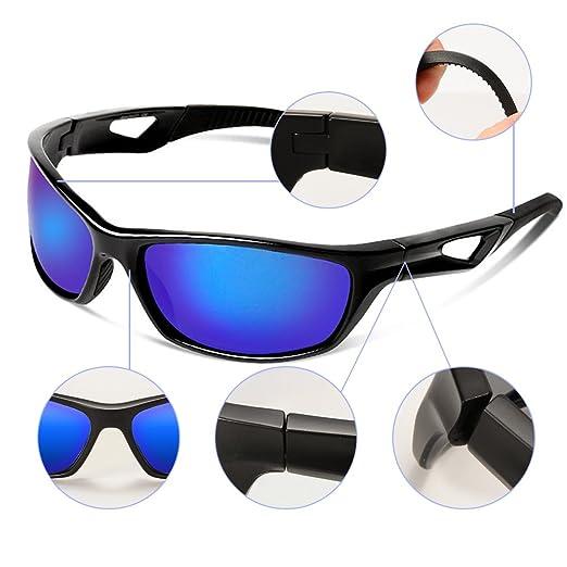 Lanlan Outdoor Sport Sonnenbrille Frauen TR Rahmen für Herren Radfahren Golf Laufen Angeln Jagd Bootfahren Polaroid Gläser, schwarz/rot
