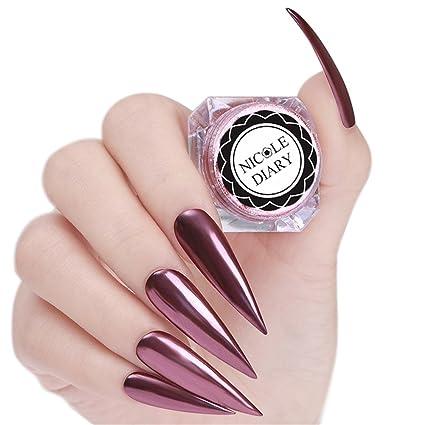 NICOLE DIARY 0.8g Effetto Specchio Nail Polvere In Oro Rosa Nail Glitter  Polvere Magica Nail 30966193ca02