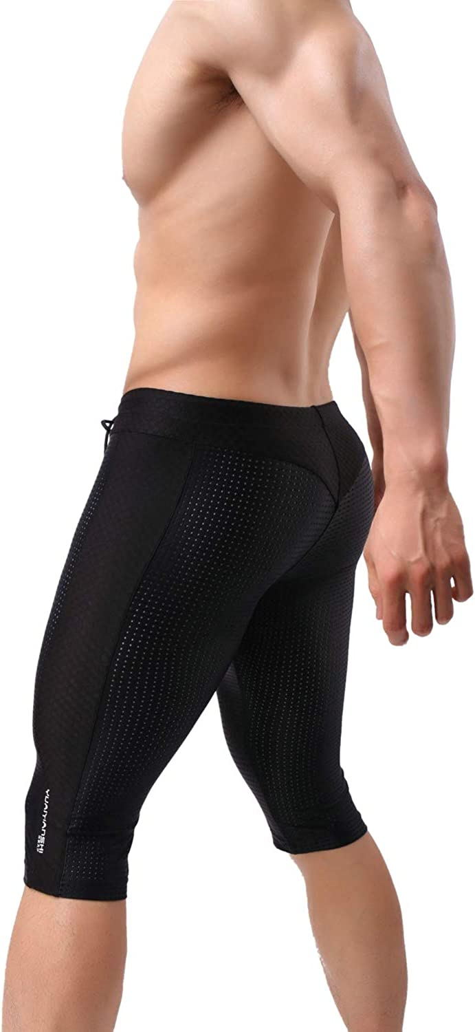 MuscleMate Men's Skin Tight Swim Trunks, Men's Swim Shorts Jammers, Hot Men's Compression Shorts for Gym Workout.