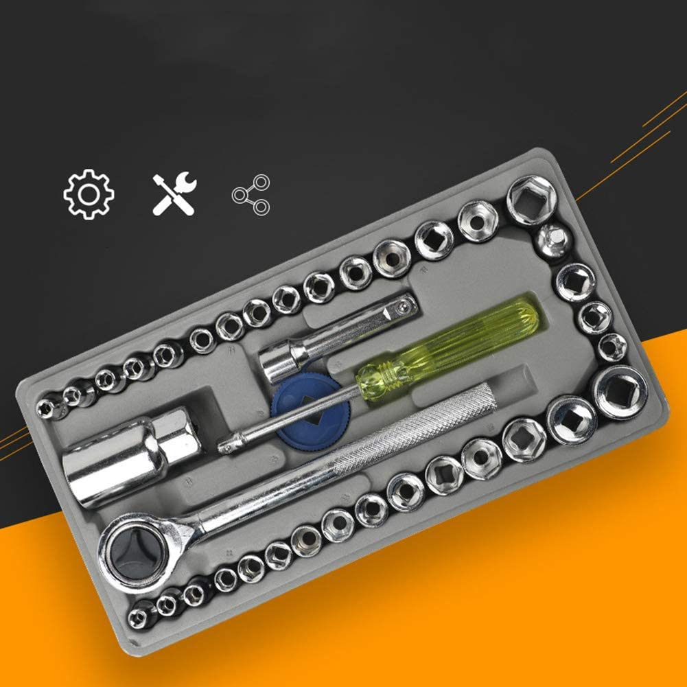 Quick Ratchet Socket Wrench Set Hexagon Sleeve Universal Wrench High Quailty