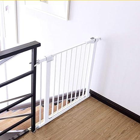 Puerta de seguridad para bebés Parque de seguridad para niños Puerta de seguridad para niños Puerta de barrera para niños Puertas de escalera Puerta de bebé con puerta para mascotas Puerta d: