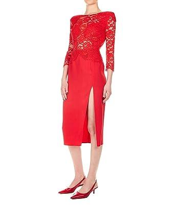 12a04c3982a4b Elisabetta Franchi Mujer AB77392E2T78 Rojo Viscosa Vestido  Amazon.es  Ropa  y accesorios
