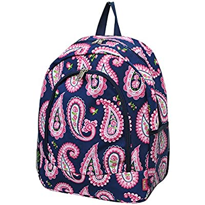 well-wreapped Paisley Print NGIL Canvas School Backpack