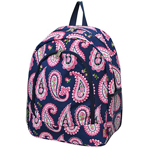 Paisley Print NGIL Canvas School Backpack