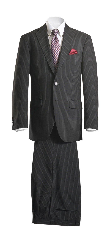 (プラモニー)pramony段返り3ツボタンスーツ ビジネススーツ メンズ ツータック 洗えるパンツウォッシャブル プリーツ加工 ツータック suit 紳士服 SC60 B07C8GRZSZ A5|2:ブラックピンストライプ18E07-990 2:ブラックピンストライプ18E07-990 A5
