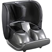 Agaro Foldable Foot and Calf Massager for Pain Relief and Muscle Relaxation (Black)