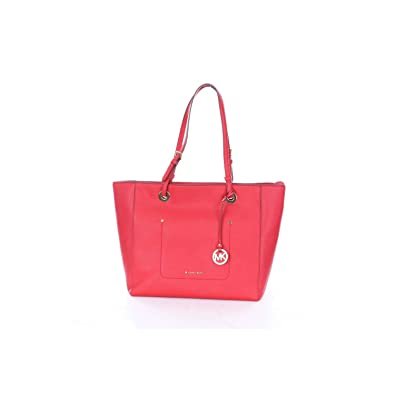 a7e3a8fa2171e8 Michael Kors - Walsh Large Top Zip Tote, Bright Red, OS: Amazon.co.uk:  Clothing