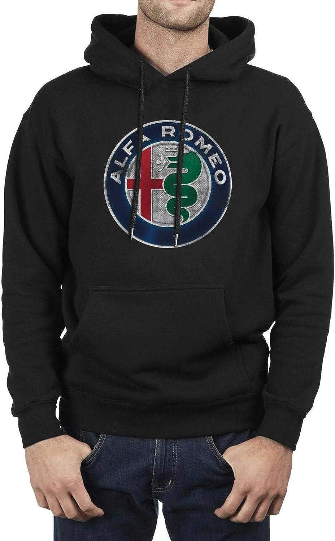 Mens Cotton Hoodies Alfa-Romeo-Sports-car-Giulia-SUV- Cool Casual Sweatshirt Funny Drawstring Pocket Sweaters