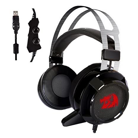 a4fb3c66238 Amazon.com: Redragon H301 SIREN2 7.1 Channel Surround Stereo Gaming Headset  Over Ear Headphones with Mic Individual Vibration Noise Canceling LED  Light: ...