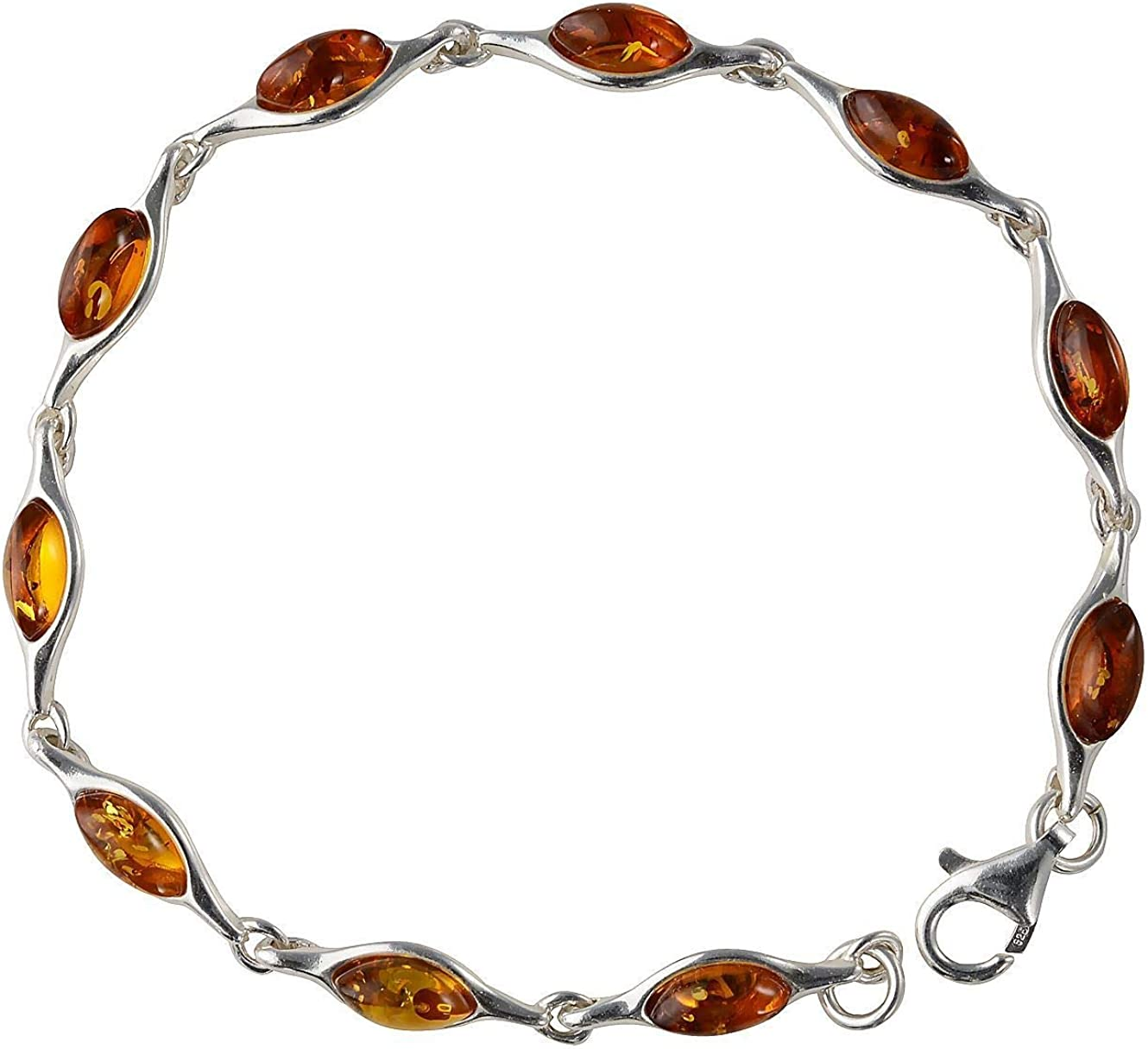 Gift for Mom Bracelet 14K Gold Plated 925 Sterling Silver with Amber inserts Wife Vintage Sister FREE SHIPPING. HandMade