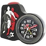 JACQUES FAREL ACB716FO-G Fußball Wecker Junge Kinderwecker Kunststoff Analog Licht Alarm Fußballwecker schwarz