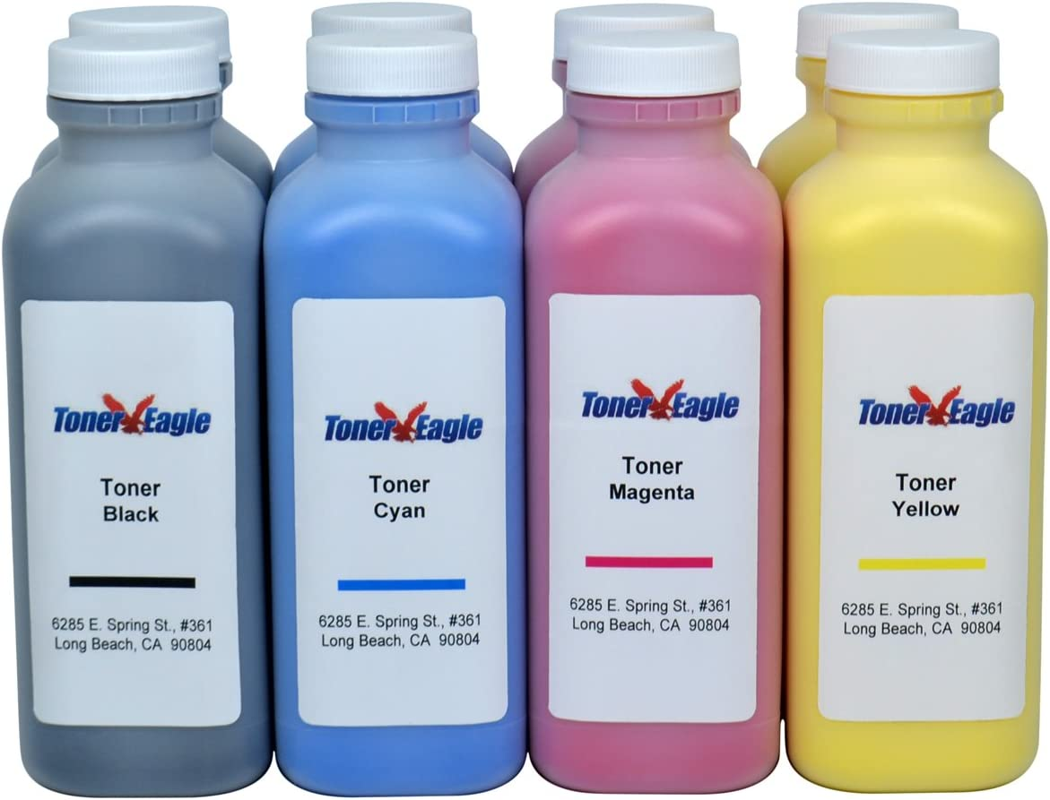 Toner Eagle Hi-Yield Toner Refill Kits Compatible with Lexmark C540 C543 C544 C546 with Chips. Two 4-Color Set