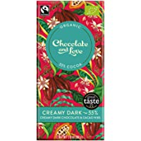 Chocolate & Love Organic Chocolate - Creamy Dark 55% Dark Chocolate, 80g