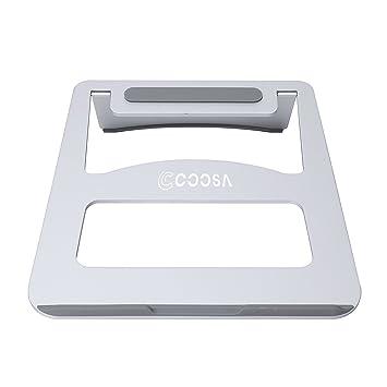 COOSA magnesio aleación de aluminio portátil estable y portátil Radiación del soporte ajustable de la ayuda (plata): Amazon.es: Informática