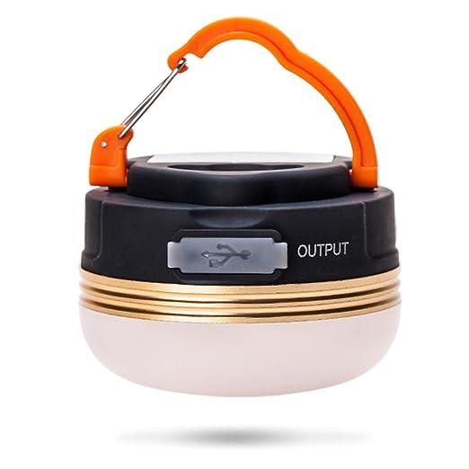 LOHAS® LED de Camping 3W, MINI portátiles Lampára recargable con USB, Tres clases