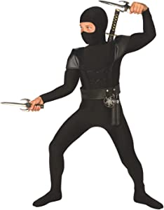 Morph Kids Ninja Costume Childrens Black Kung Fu Karate Outfit - Small (Age 3-5)