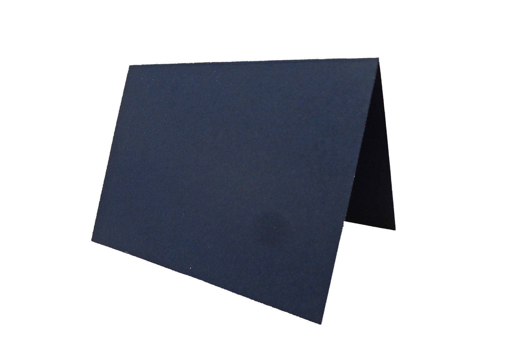 Blank Navy Place Cards Tent Cards - 50 Pack | Size 3.5'' x 5'' Flat 2.5'' x 3.5'' Folded